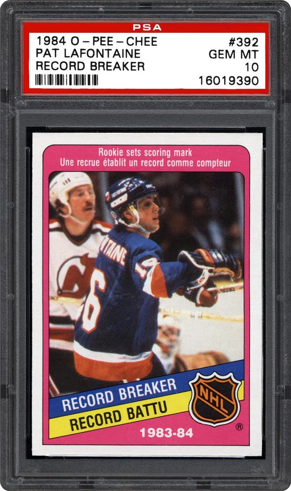 03919de04 Pat LaFontaine (Record Breaker) - 1984 O-Pee-Chee. THE PLAYER  ARTICLES.  Patrick Michael LaFontaine ...