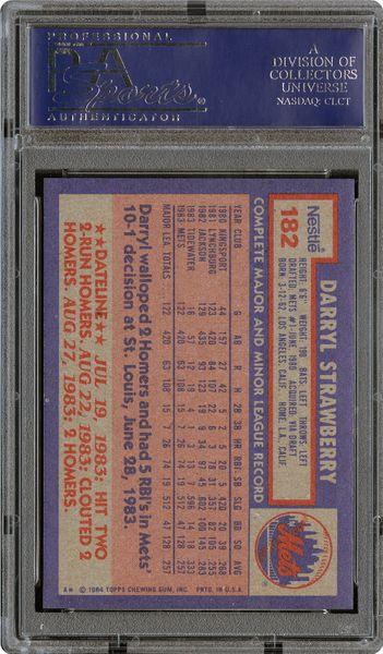 1984 Topps Nestle Darryl Strawberry Psa Cardfacts