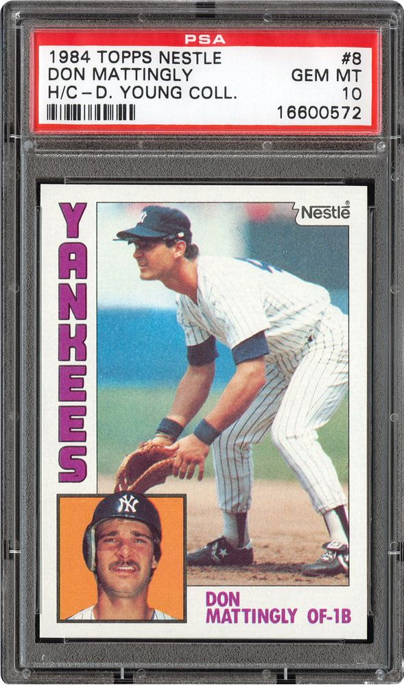 1984 Nestle Dream Team Hand Cut Baseball Cards Psa