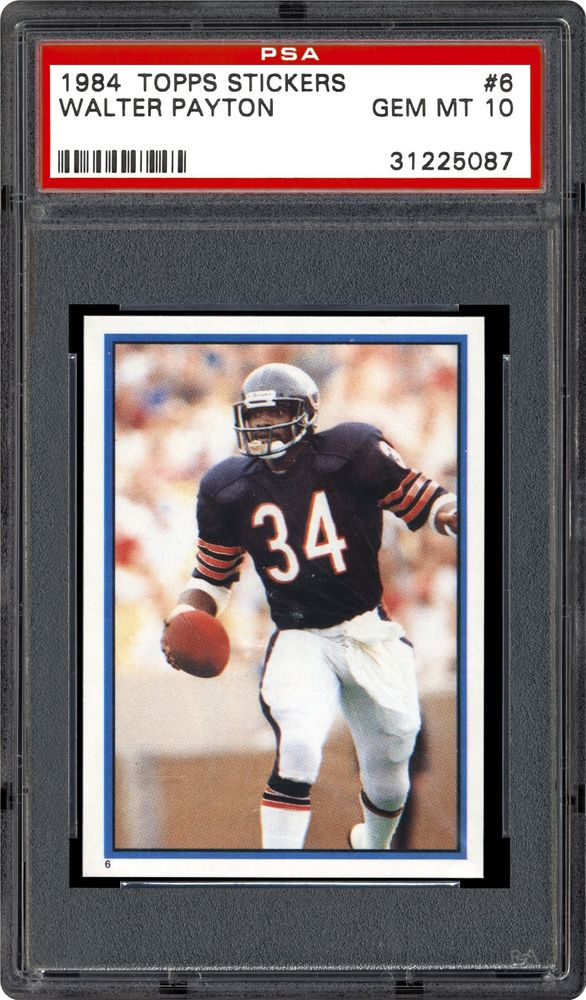 825d07caade 1984 Topps Stickers Walter Payton | PSA CardFacts™