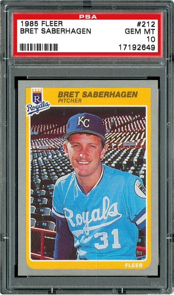Baseball Cards 1985 Fleer Images Psa Cardfacts