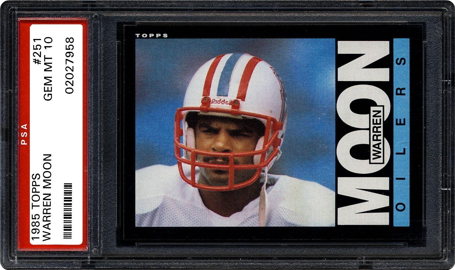 1985 Topps Warren Moon | PSA CardFacts®