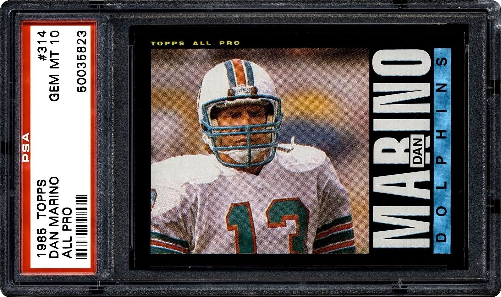 sports shoes a7033 723df 1985 Topps Dan Marino (All Pro) | PSA CardFacts™