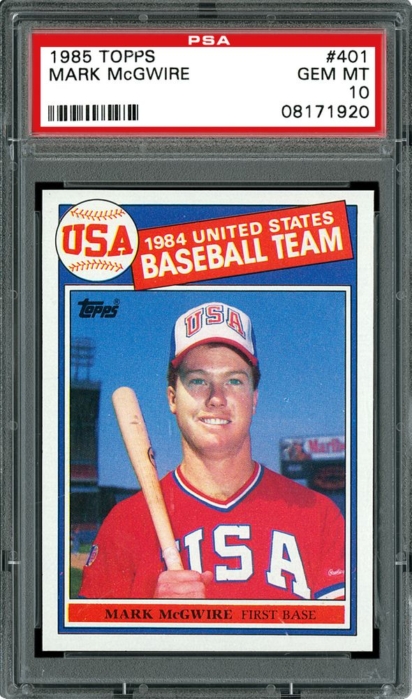 Baseball Cards 1985 Topps Psa Cardfacts