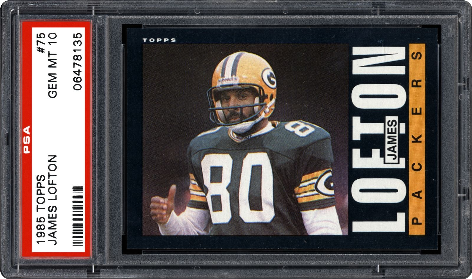 sports shoes c0443 6d159 1985 Topps James Lofton | PSA CardFacts™