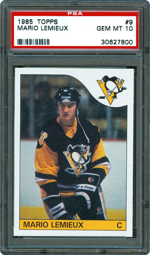 on sale d8a4b cfc28 1985 Topps Mario Lemieux | PSA CardFacts™