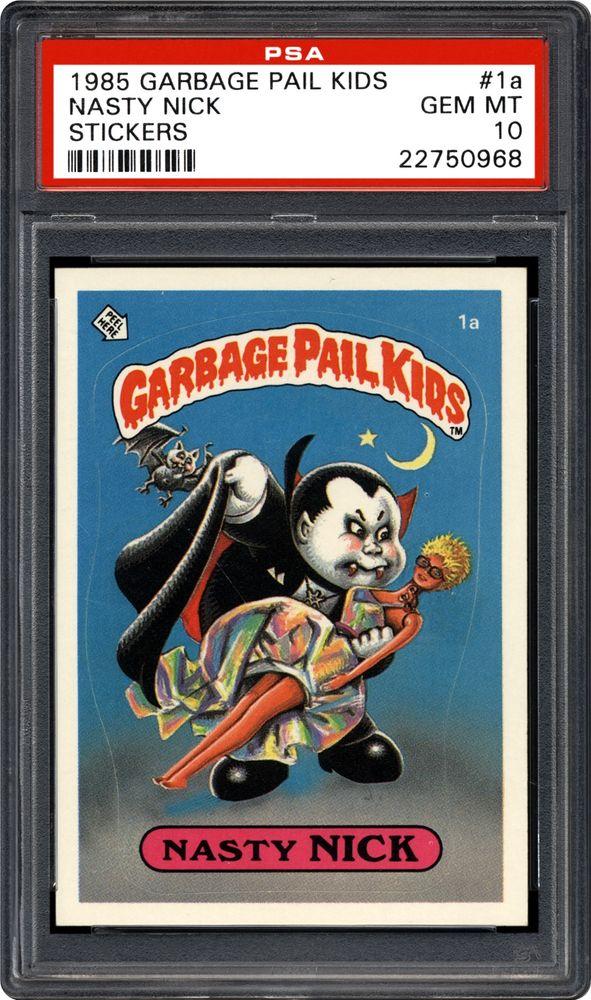 1985 Topps Garbage Pail Kids Stickers Nasty Nick Psa Cardfacts