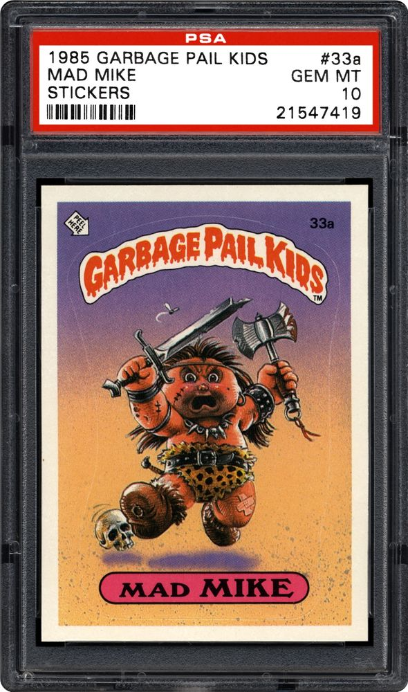 423ec5ab7e4 Mad Mike - 1985 Topps Garbage Pail Kids Stickers. ARTICLES. PSA Set Registry   Collecting ...