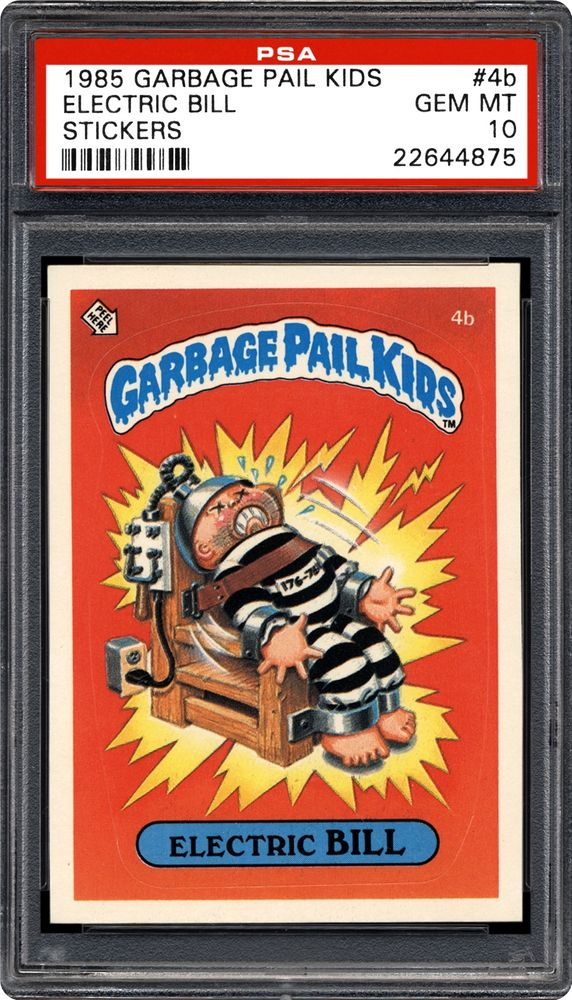 1985 Topps Garbage Pail Kids Stickers Electric Bill Psa Cardfacts