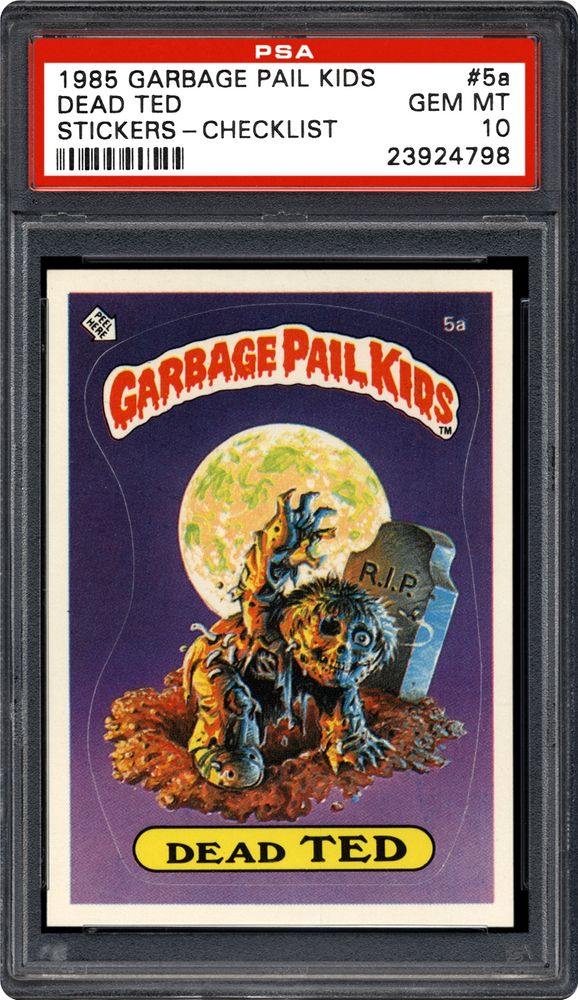 1985 Topps Garbage Pail Kids Stickers Dead Ted Checklist Psa Cardfacts