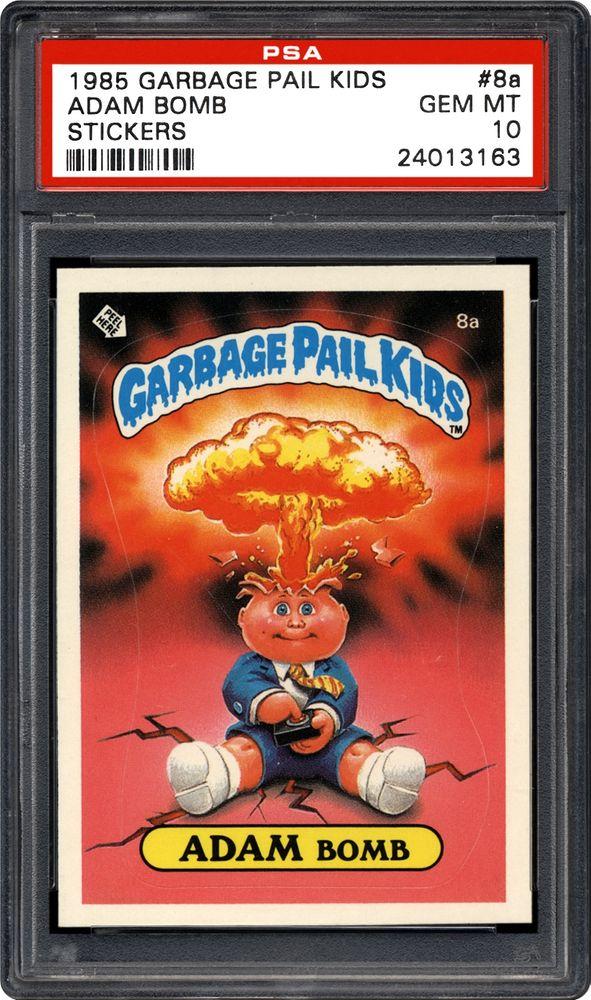 1985 Topps Garbage Pail Kids Stickers Adam Bomb Psa Cardfacts