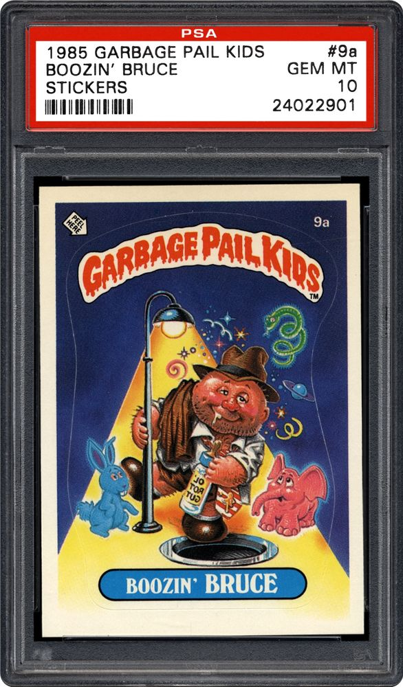 b45d882abfb Boozin  Bruce - 1985 Topps Garbage Pail Kids Stickers. ARTICLES. PSA Set  Registry  Collecting ...