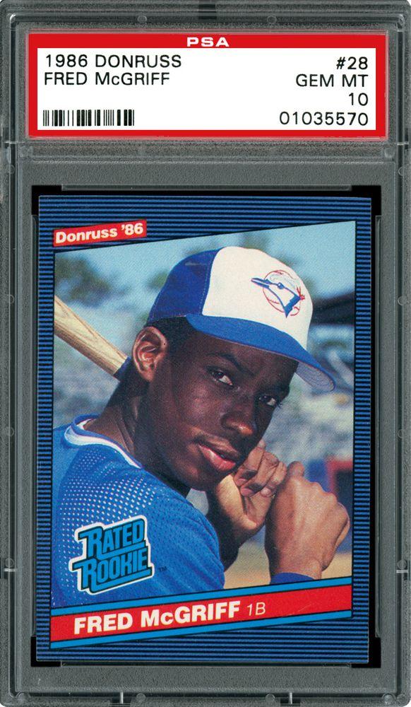 Baseball Cards 1986 Donruss Psa Cardfacts