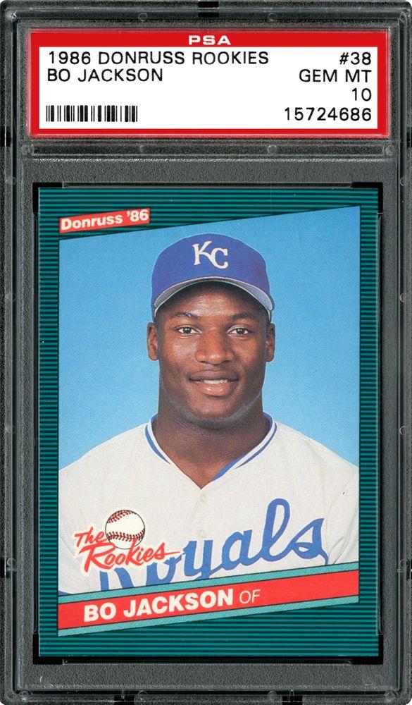 1986 Donruss Rookies Bo Jackson Psa Cardfacts