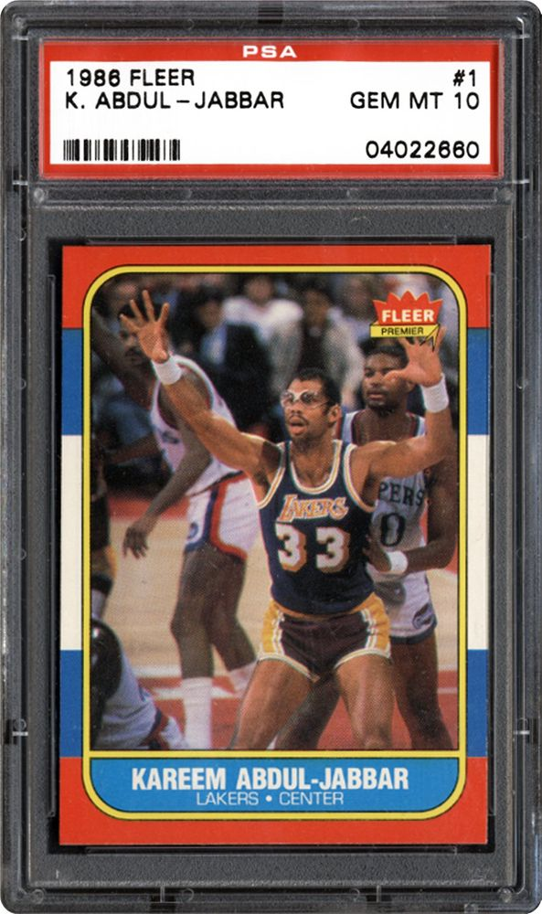 e564d6bf810 1986 Fleer Kareem Abdul-Jabbar   PSA CardFacts™