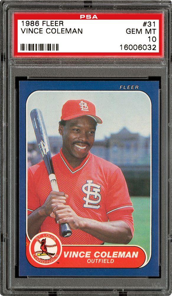Baseball Cards 1986 Fleer Images Psa Cardfacts