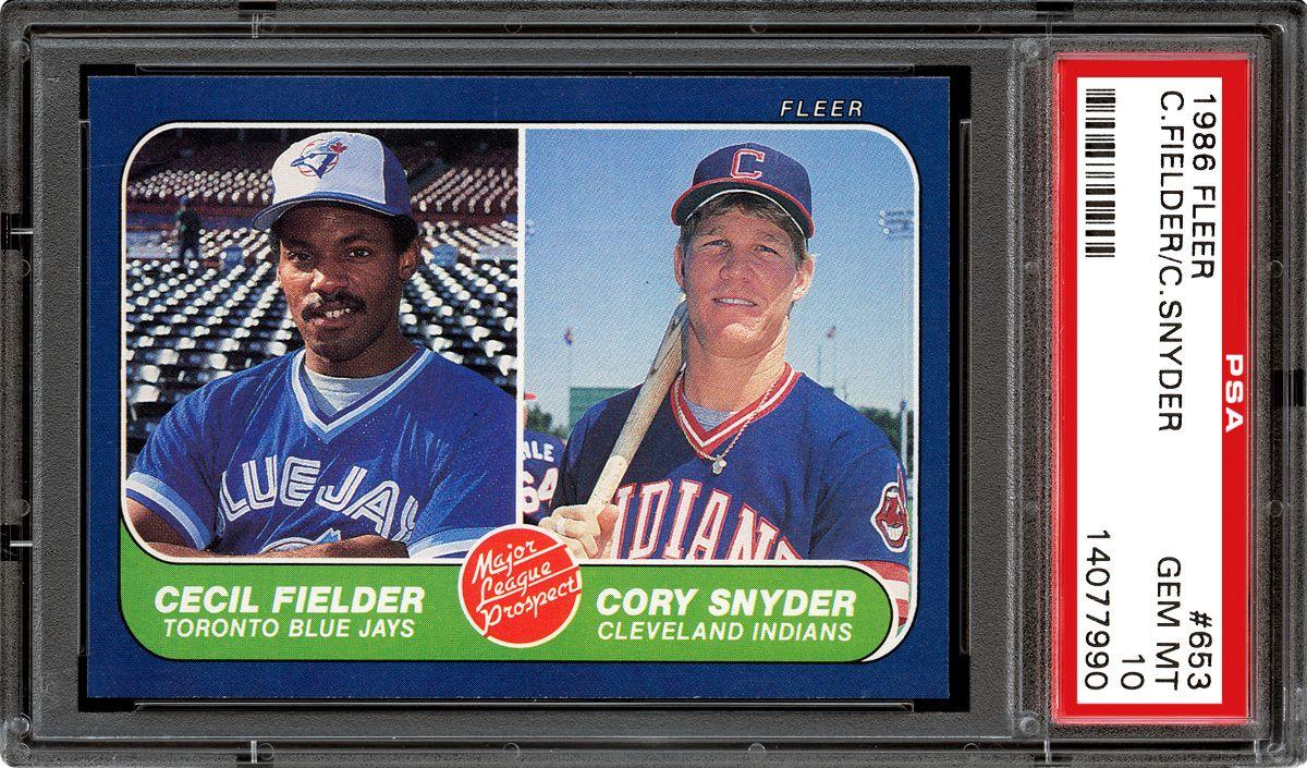 1986 Fleer Baseball Cards Psa Smr Price Guide