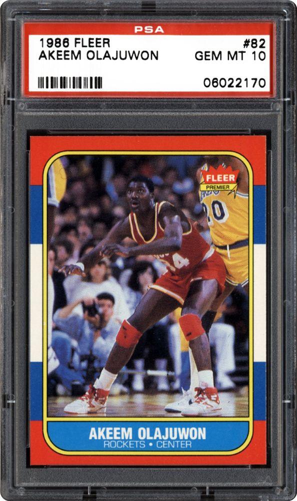 1986 Fleer Akeem Olajuwon | PSA CardFacts™
