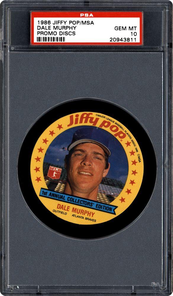 Baseball Cards 1986 Jiffy Popmsa Promo Discs Psa Cardfacts