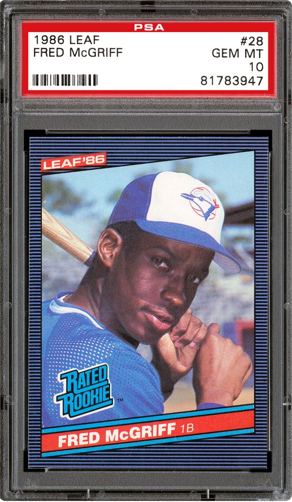 1986 Leaf Baseball Cards Psa Population