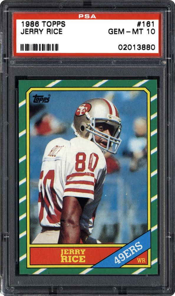 1986 Topps Jerry Rice Psa Cardfacts