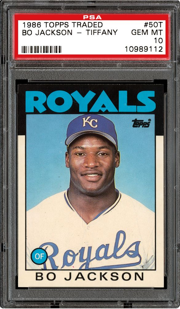 1986 Topps Traded Bo Jackson Psa Cardfacts