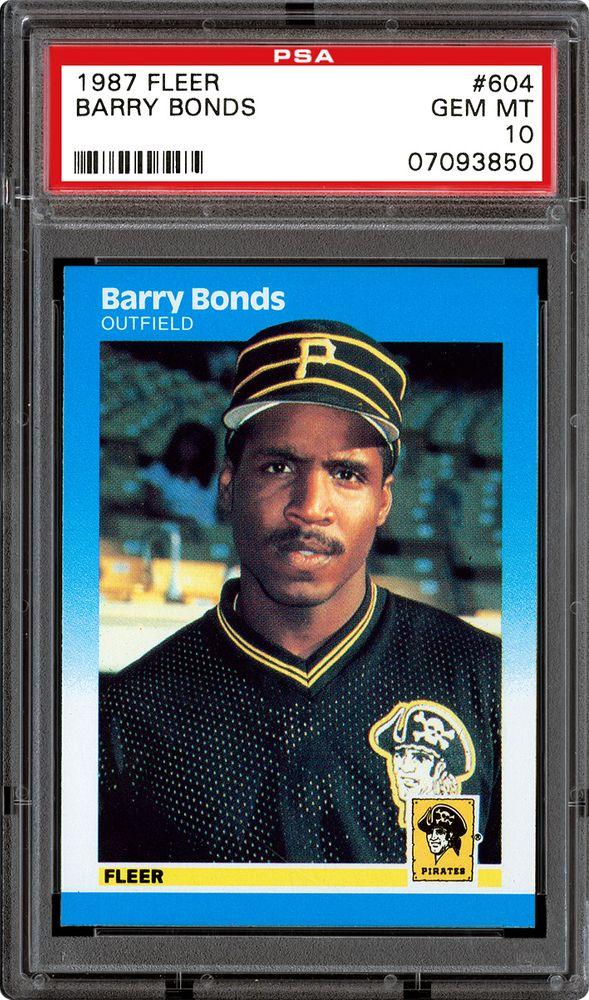 1987 Fleer Barry Bonds Psa Cardfacts