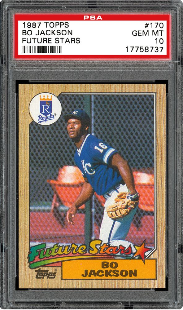 1987 Topps Bo Jackson Future Stars Psa Cardfacts