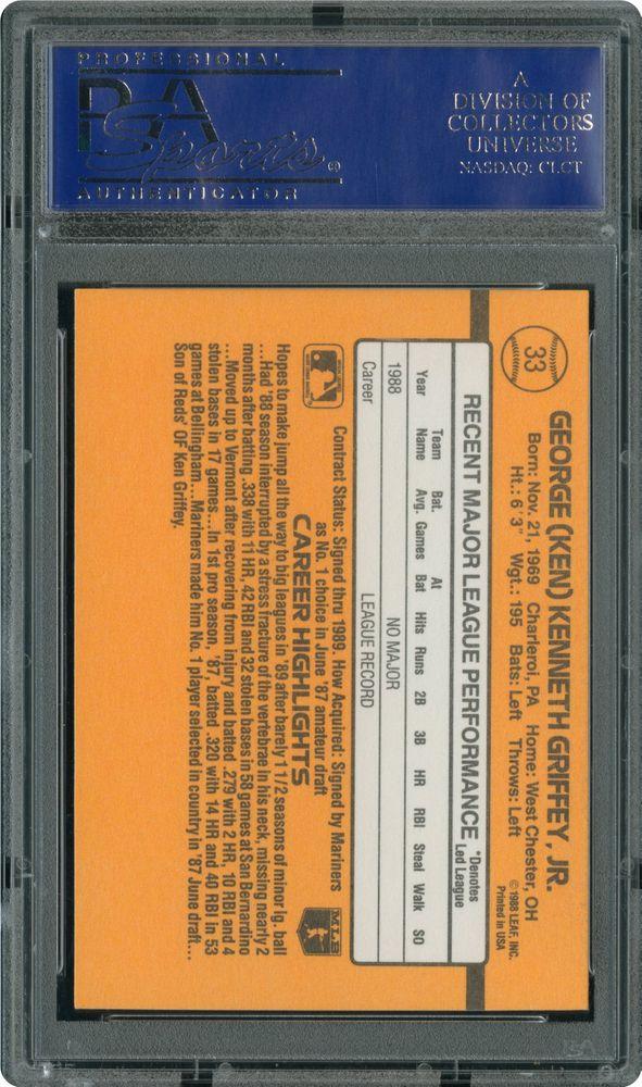 1989 Donruss Ken Griffey Jr Psa Cardfacts