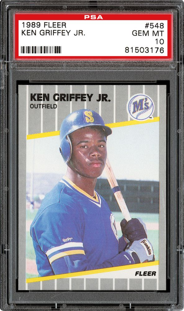 1989 Fleer Ken Griffey Jr Psa Cardfacts