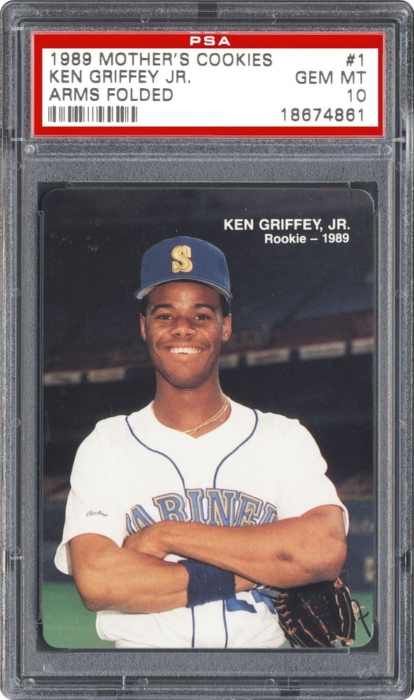 31360cd080 1989 Mother's Cookies Ken Griffey Jr Ken Griffey Jr. (Arms Folded ...