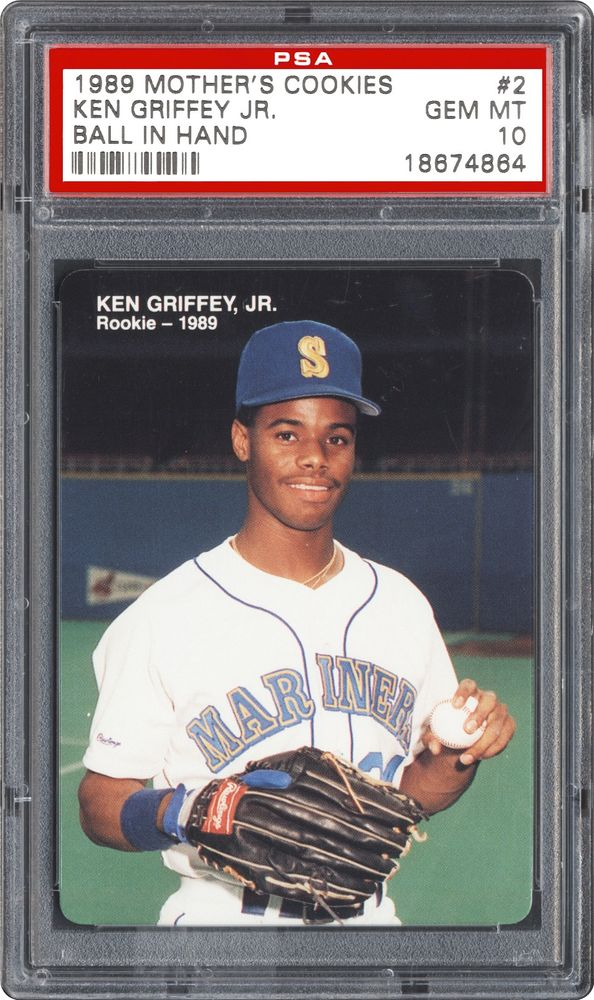 2012d94884 1989 Mother's Cookies Ken Griffey Jr Ken Griffey Jr. (Ball In Hand ...