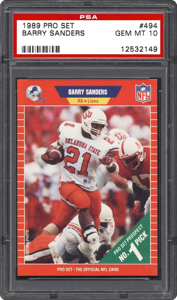 1989 Pro Set Barry Sanders Psa Cardfacts