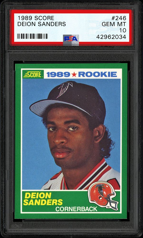 1989 Score Deion Sanders Psa Cardfacts