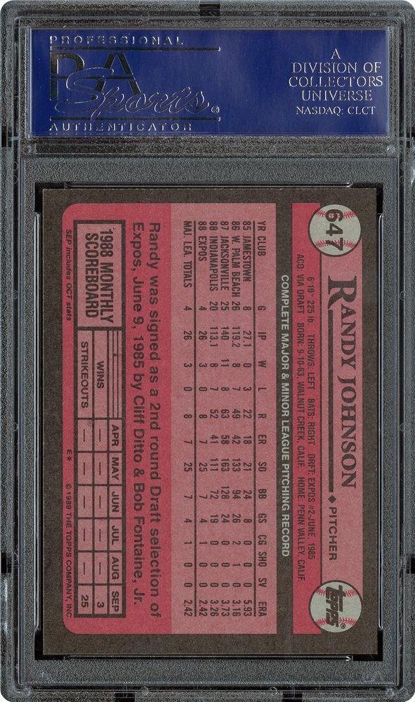 1989 Topps Randy Johnson Psa Cardfacts