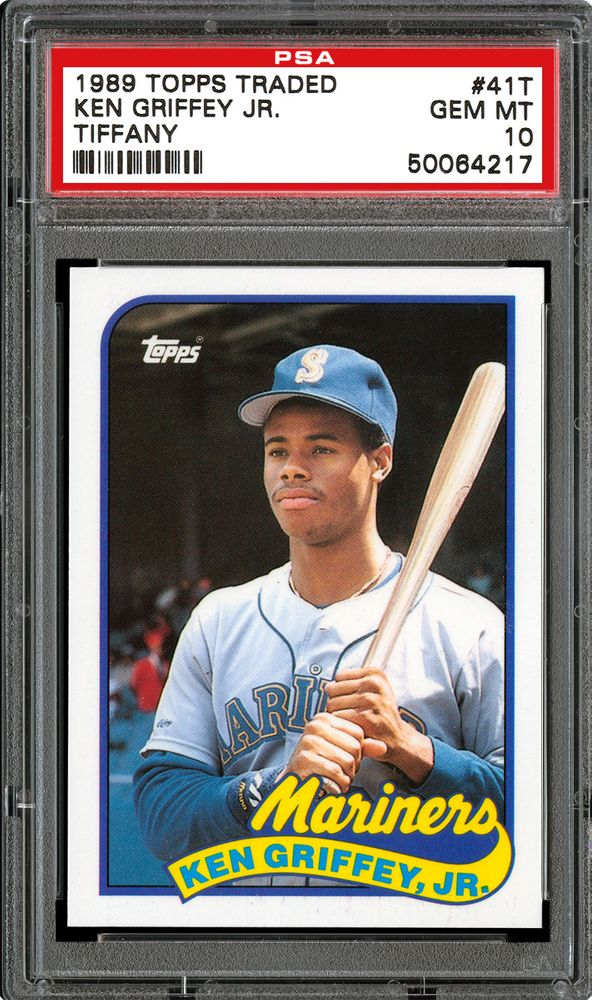 1989 Topps Traded Tiffany Ken Griffey Jr Psa Cardfacts
