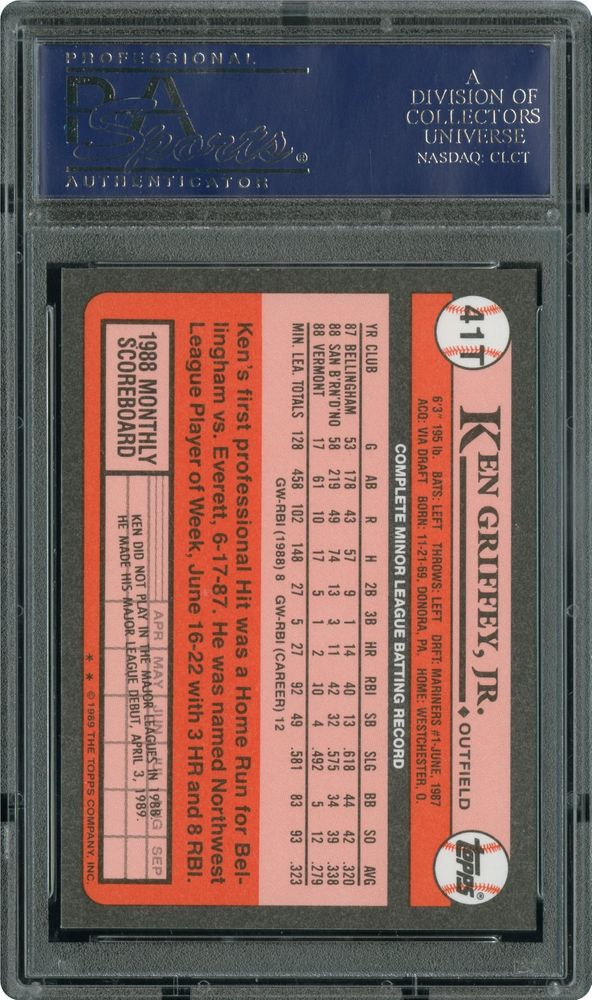5c34012674 1989 Topps Traded Tiffany Ken Griffey Jr | PSA CardFacts™