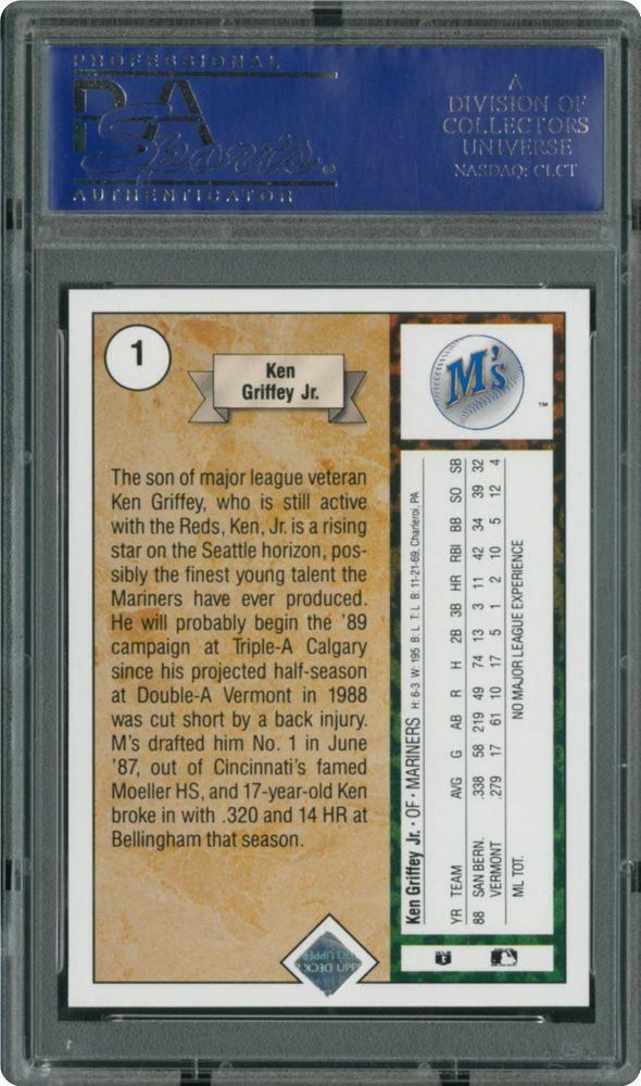 1989 Upper Deck Ken Griffey Jr Star Rookie Psa Cardfacts