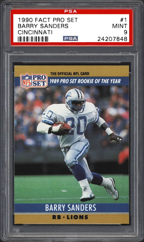 1990 Fact Pro Set Cincinnati Barry Sanders Psa Cardfacts