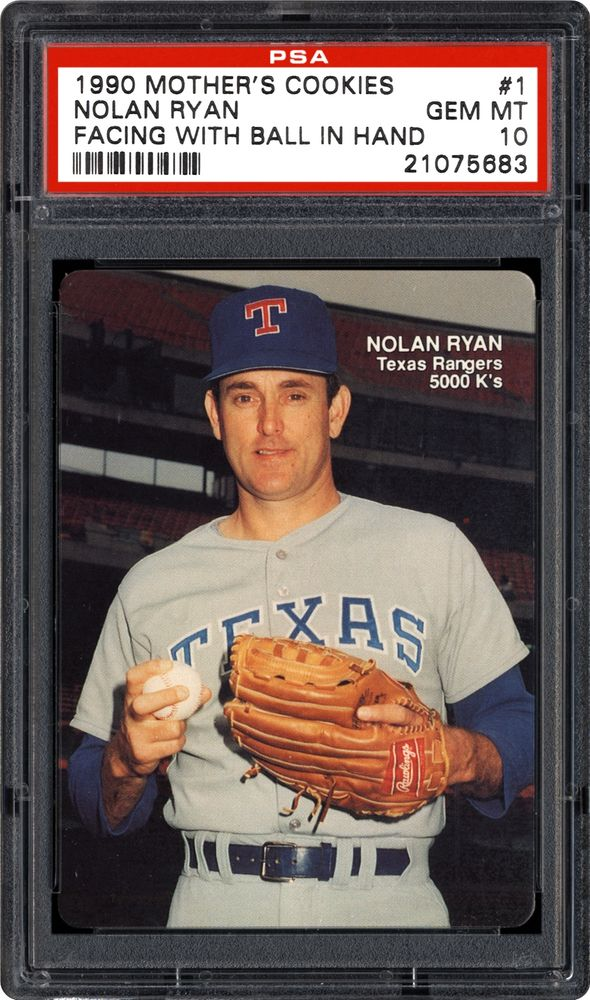 Baseball Cards 1990 Mothers Cookies Nolan Ryan Psa Cardfacts