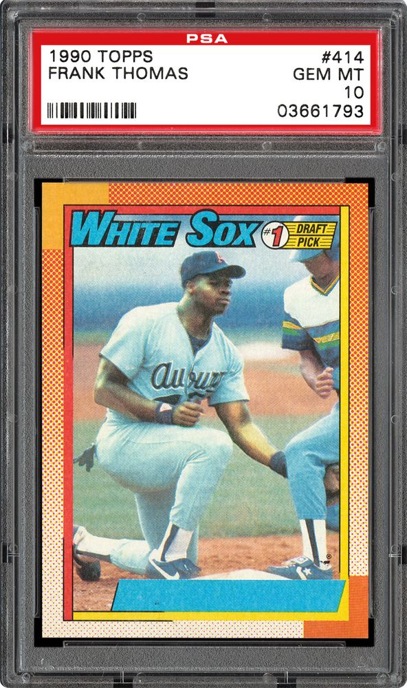 1990 Topps Frank Thomas No Name On Front Psa Cardfacts