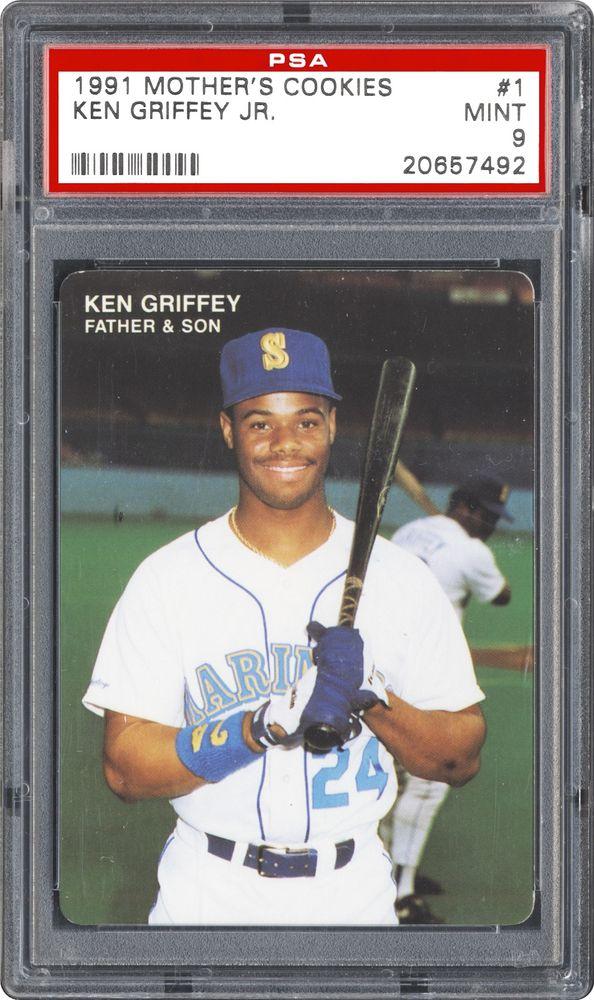 1991 Mothers Cookies Ken Griffey Jr Ken Griffey Jr Psa Cardfacts