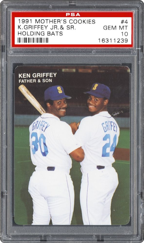 7bcb2f5734 Baseball Cards - 1991 Mother's Cookies Ken Griffey Jr | PSA CardFacts™