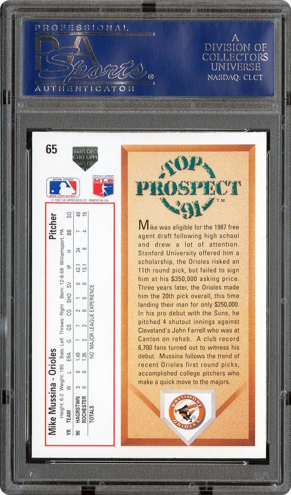 Baseball Cards 1991 Upper Deck Psa Cardfacts