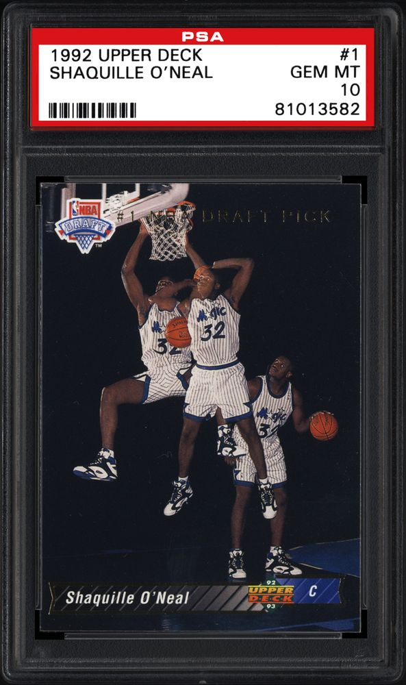 1992 Upper Deck Shaquille Oneal Psa Cardfacts