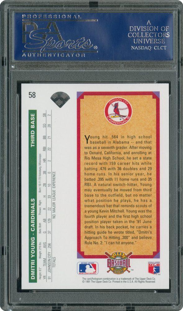 Baseball Cards 1992 Upper Deck Psa Cardfacts
