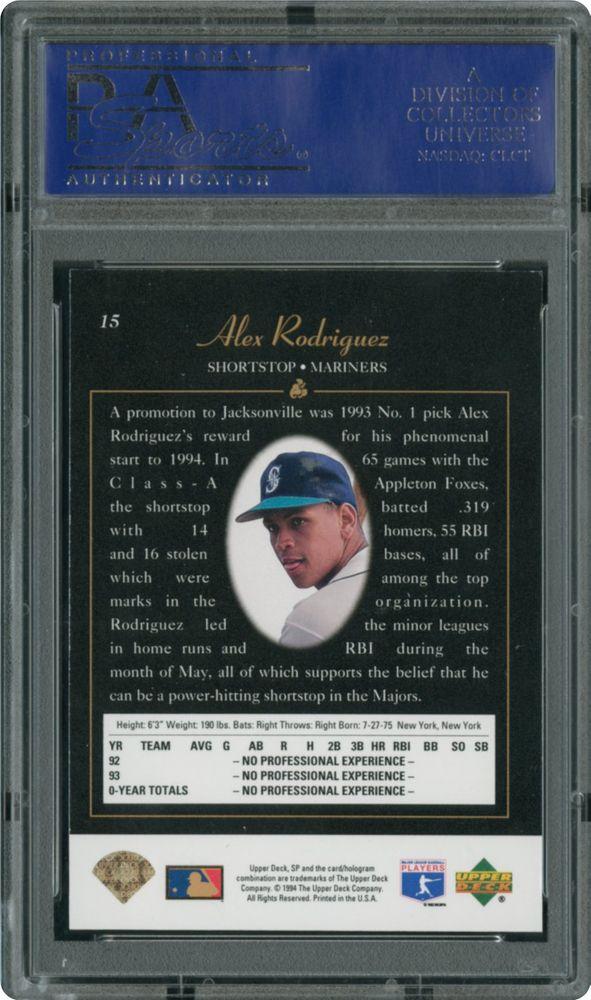 1994 Sp Alex Rodriguez Foil Psa Cardfacts