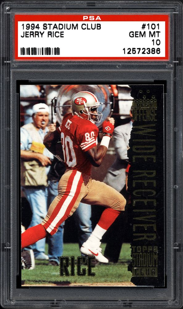 new arrival eb80c 144e9 1994 Stadium Club Jerry Rice | PSA CardFacts™