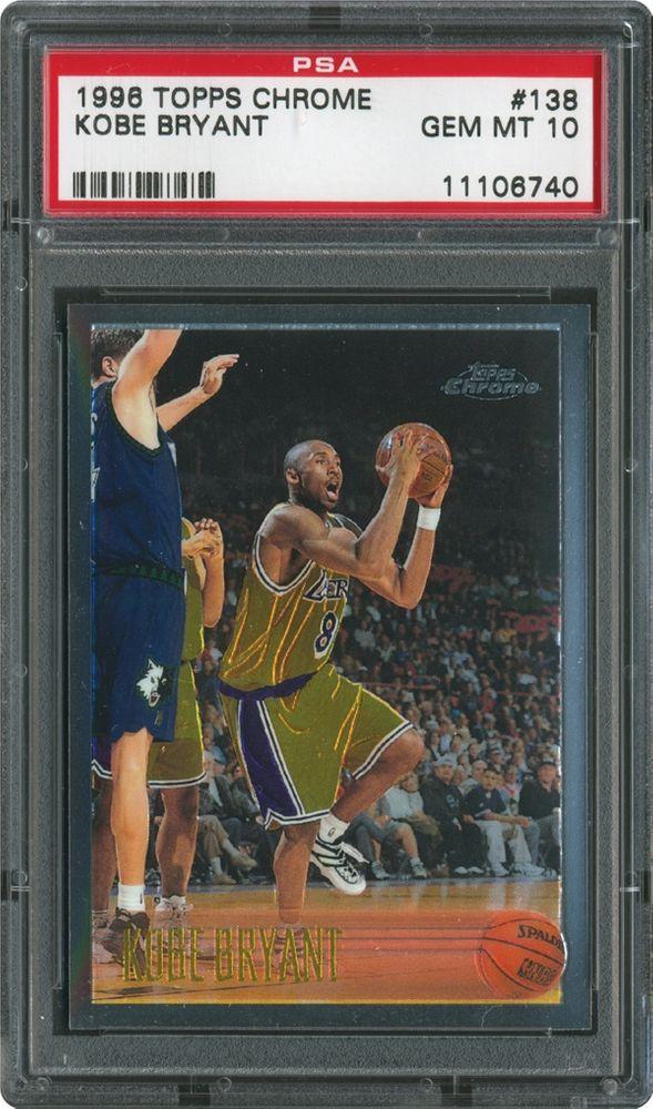 1996 Topps Chrome Kobe Bryant Psa Cardfacts