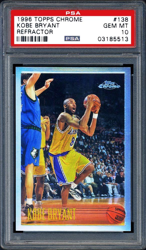 1996 Topps Chrome Kobe Bryant Refractor Psa Cardfacts